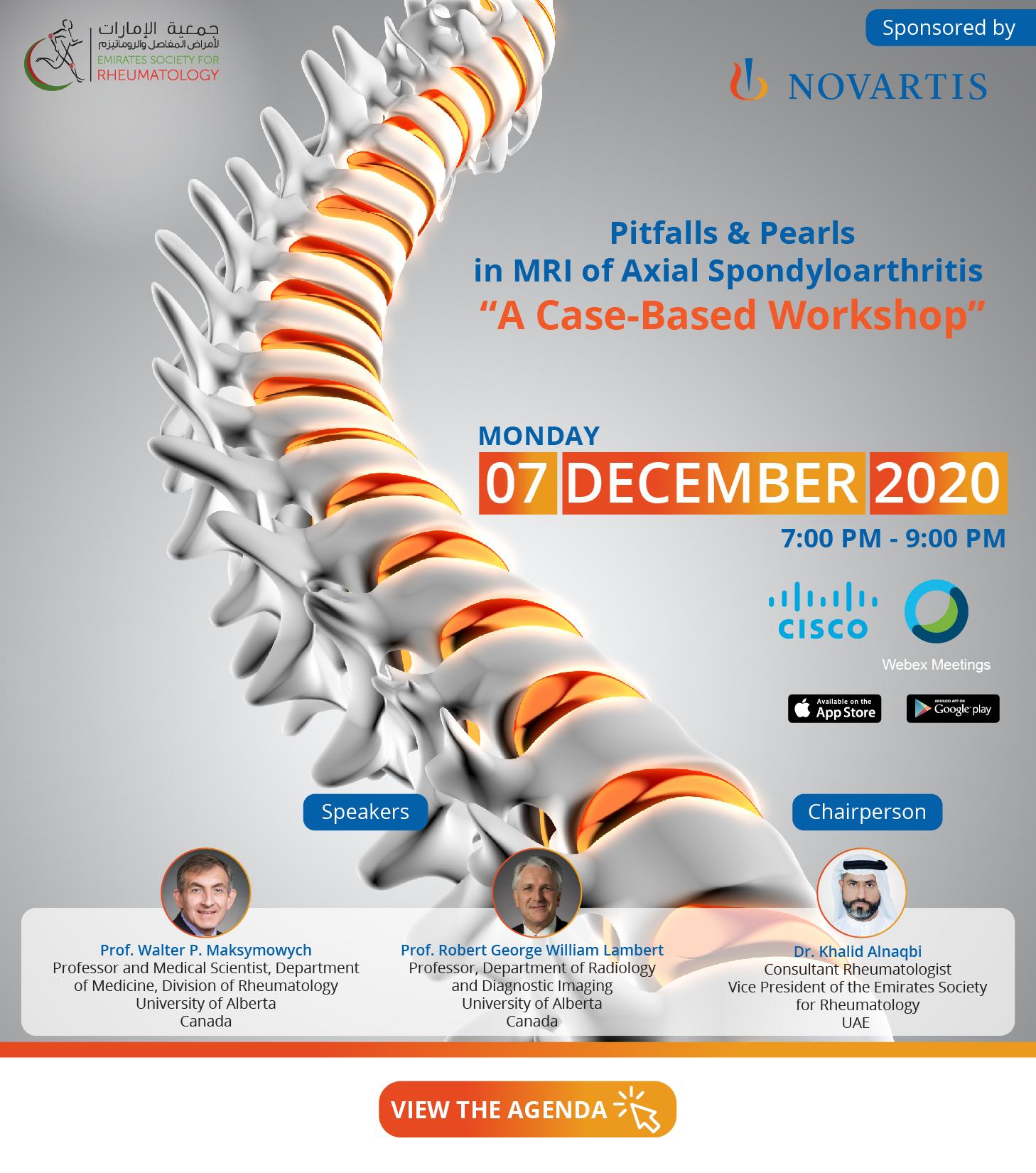 "Pitfalls & Pearls in MRI of Axial Spondyloarthritis ""A Case-Based Workshop"""
