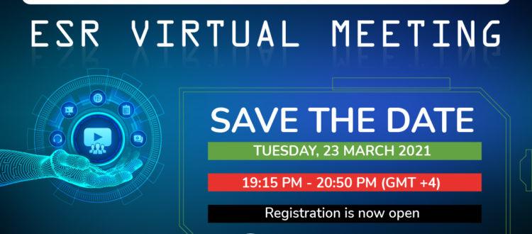 23 March 2021 ESR Virtual Meeting